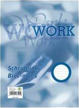 Work A4 blok gelinieerd 5-pack wit
