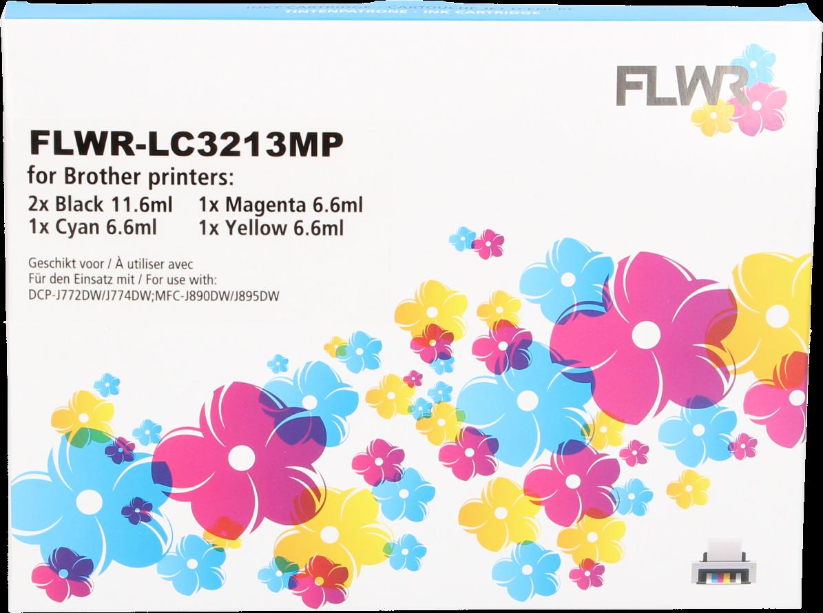 FLWR Brother LC-3213 Multipack zwart en kleur