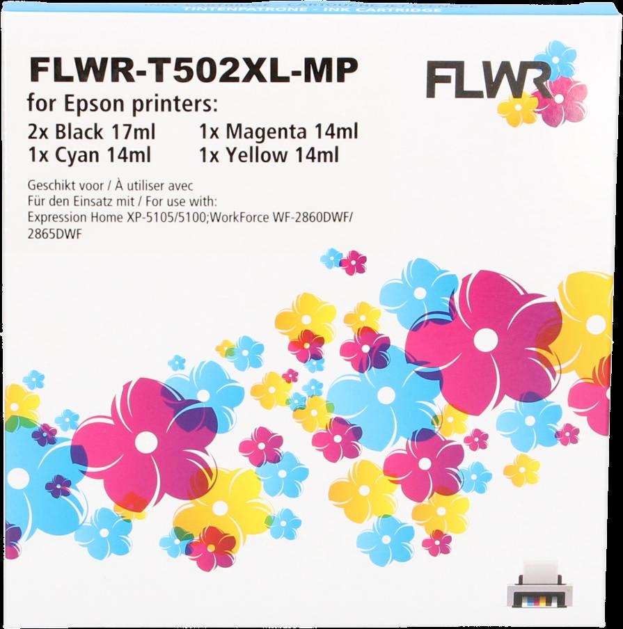 FLWR Epson 502XL Multipack zwart en kleur