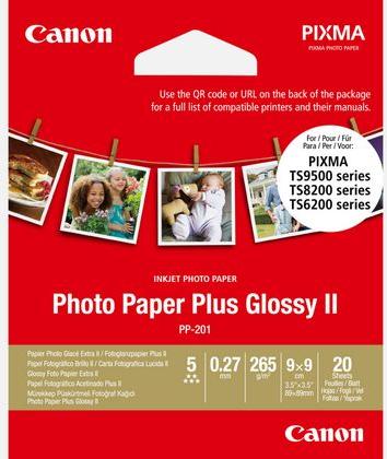 Canon PP-201 Plus Photo Paper 9 x 9 cm wit (Origineel)