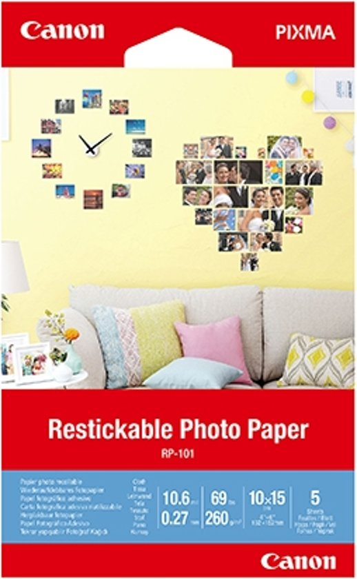 Canon RP-101 Restickable Photo Paper 10 x 15 cm