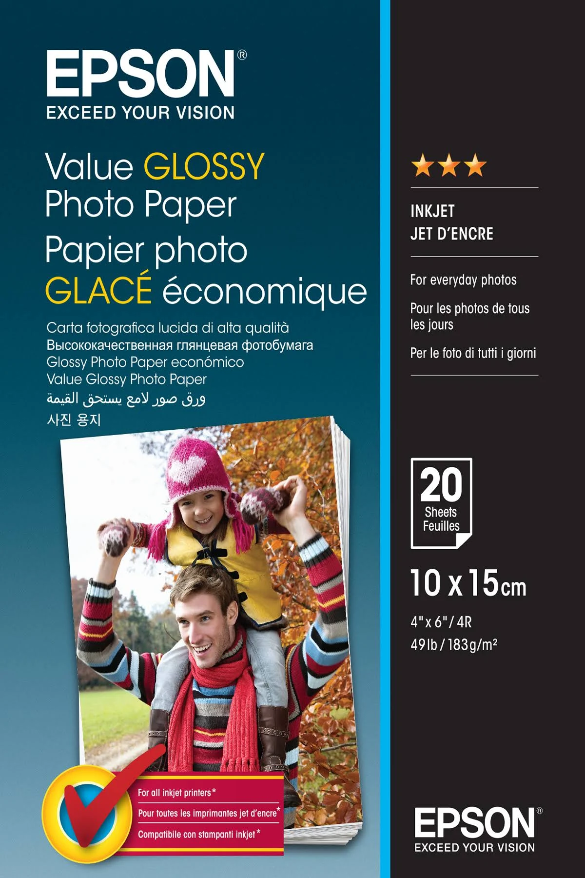 Epson Glace Premium Glossy Photo Paper 10 x 15
