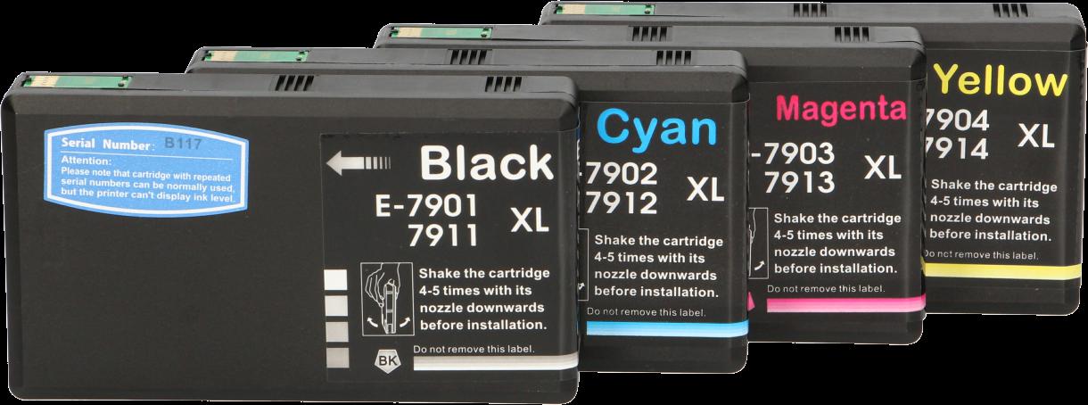 Huismerk Epson 79XL Multipack zwart en kleur