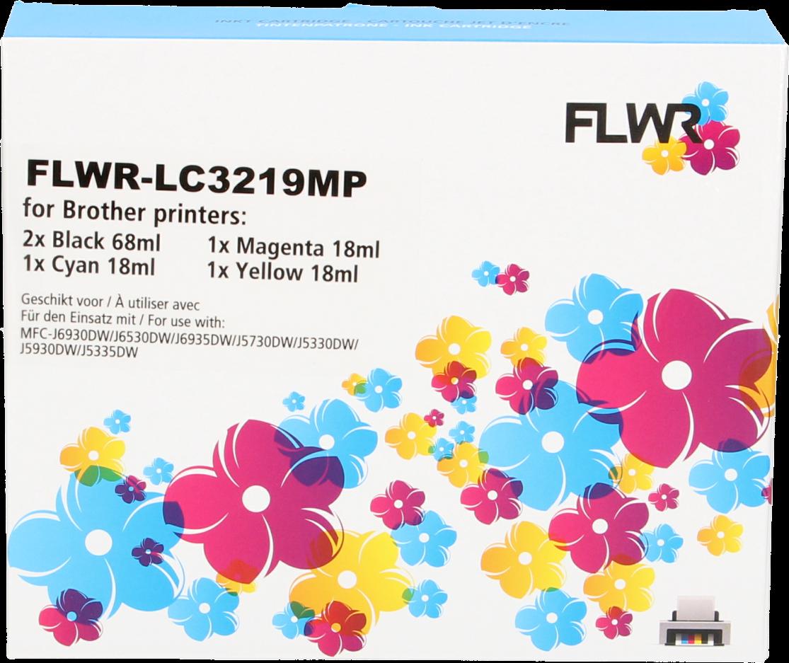 FLWR Brother LC-3219XL Multipack zwart en kleur