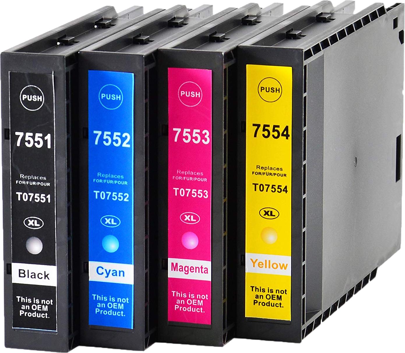 Huismerk Epson T7555 Multipack zwart en kleur
