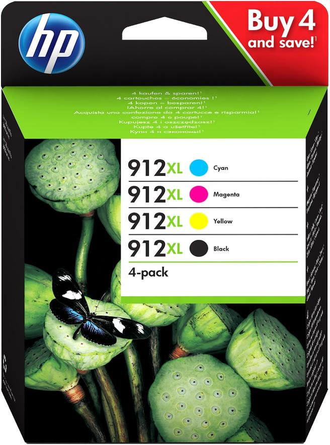 HP 912XL 4-pack zwart en kleur