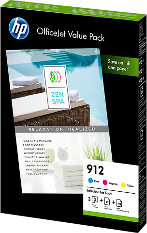 HP 912 Officejet Value pack kleur