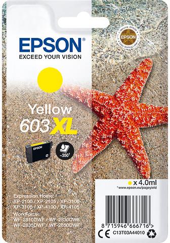 Epson 603XL inktcartridge geel