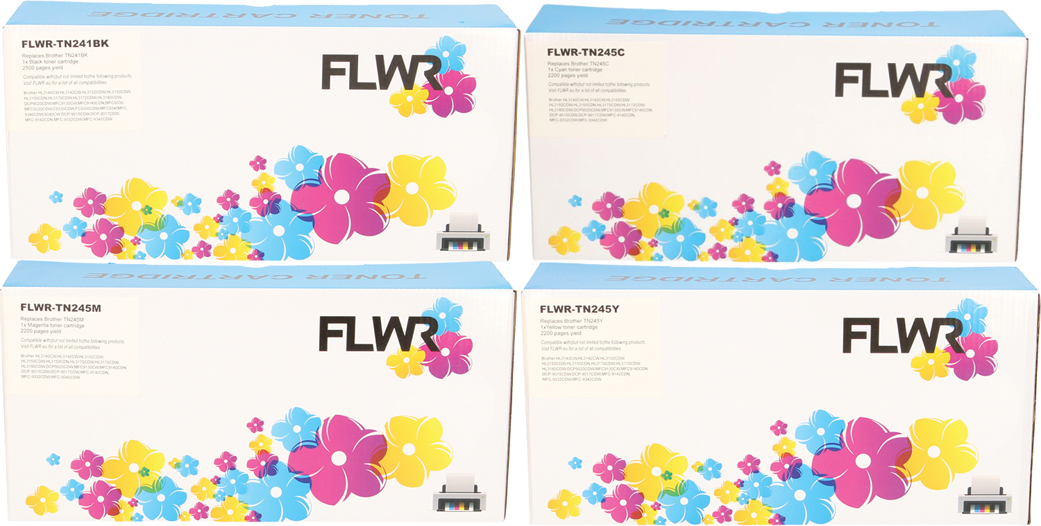 FLWR Brother TN-241/TN-245 Multipack