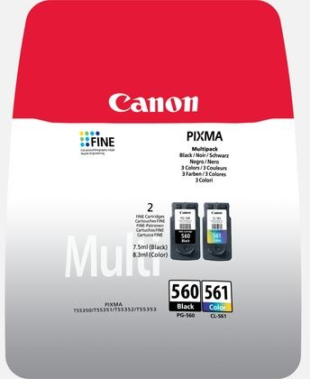 Canon PG-560 / CL-561 Multipack zwart en kleur