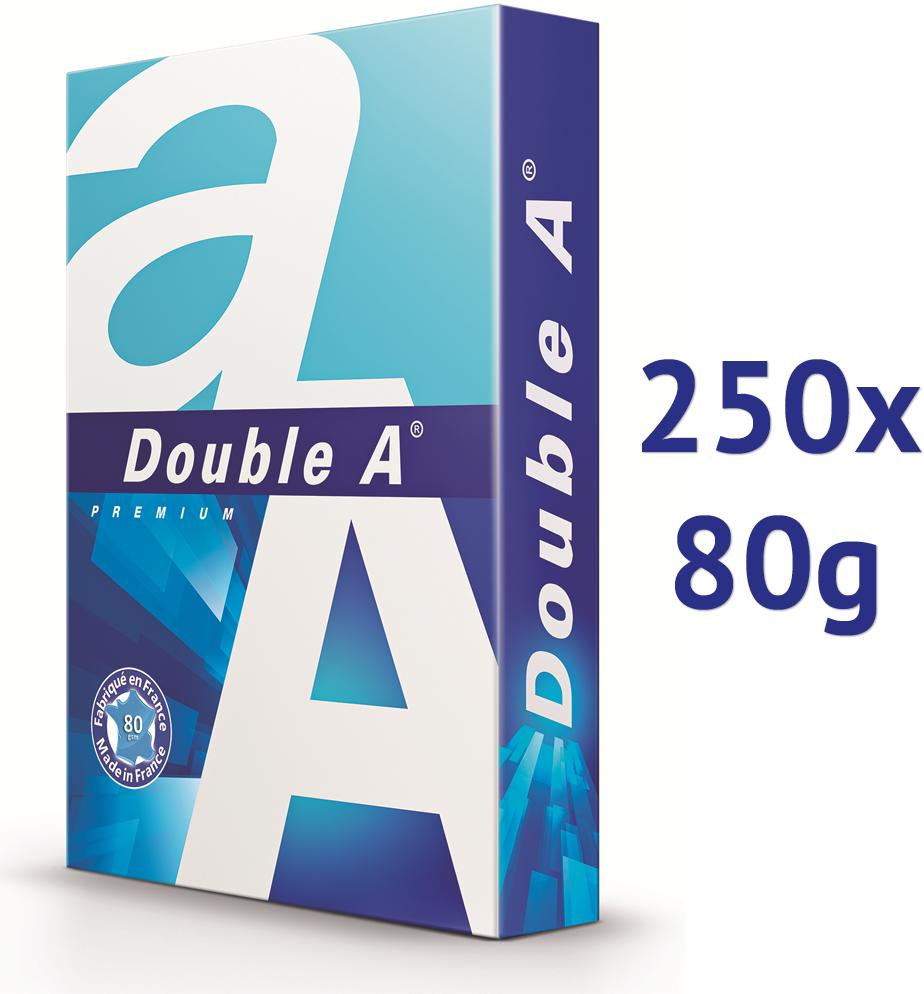 Double A Double A papier 250 vellen halve pallet (80 grams) wit