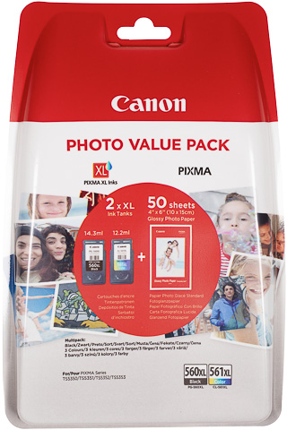 Canon PG-560 / CLI-561 XL multipack zwart en kleur