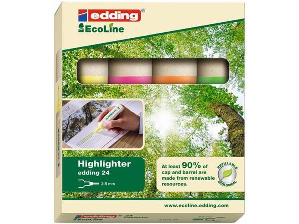 Edding 24 Eco markeerstiften 4 kleuren