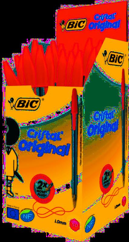 BIC Balpen Cristal medium 50-pack rood