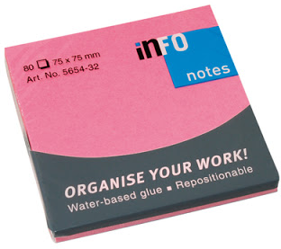 infoNotes Sticky Notes 75x75mm 12-pack roze
