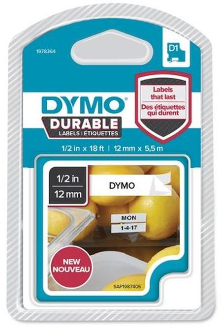 Dymo D1 1978364 vinyl tape zwart