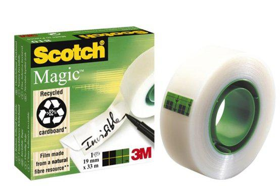 Scotch magic 810 onzichtbare plakband 19x32,9 mm transparant