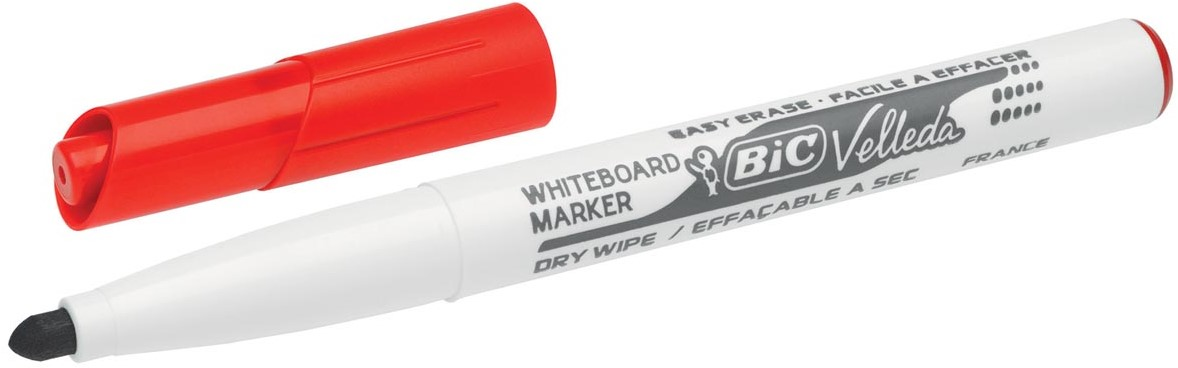 BIC whiteboardmarker Velleda 1741 rood