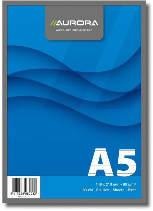 Aurora A5 notitieblok gelinieerd wit