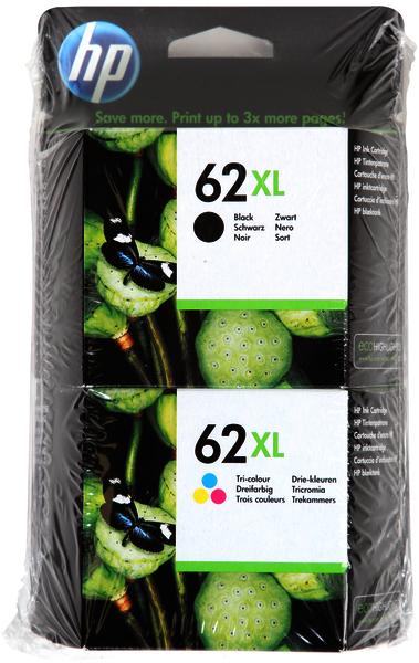 HP 62XL zwart en kleur
