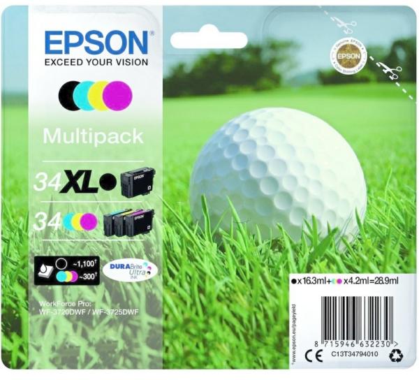 Epson 34XL / 34 zwart en kleur