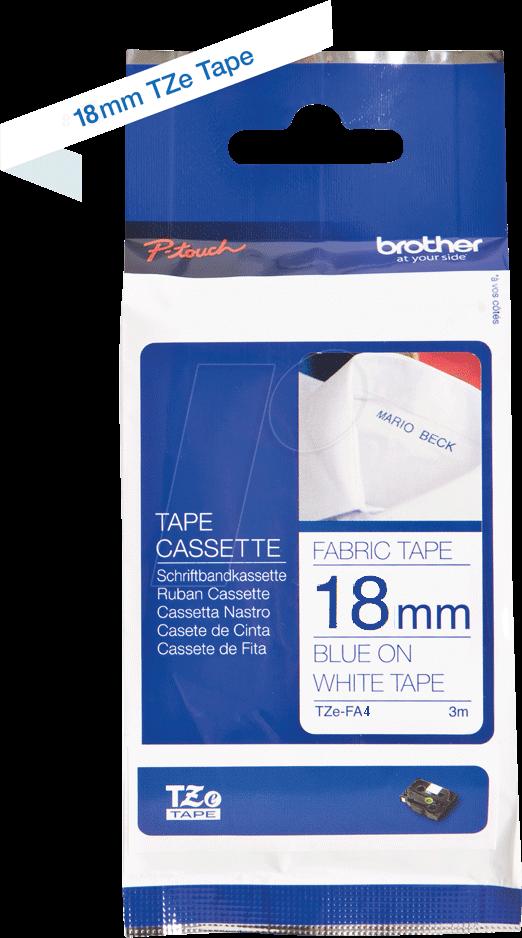 Brother TZe-FA4B blauw