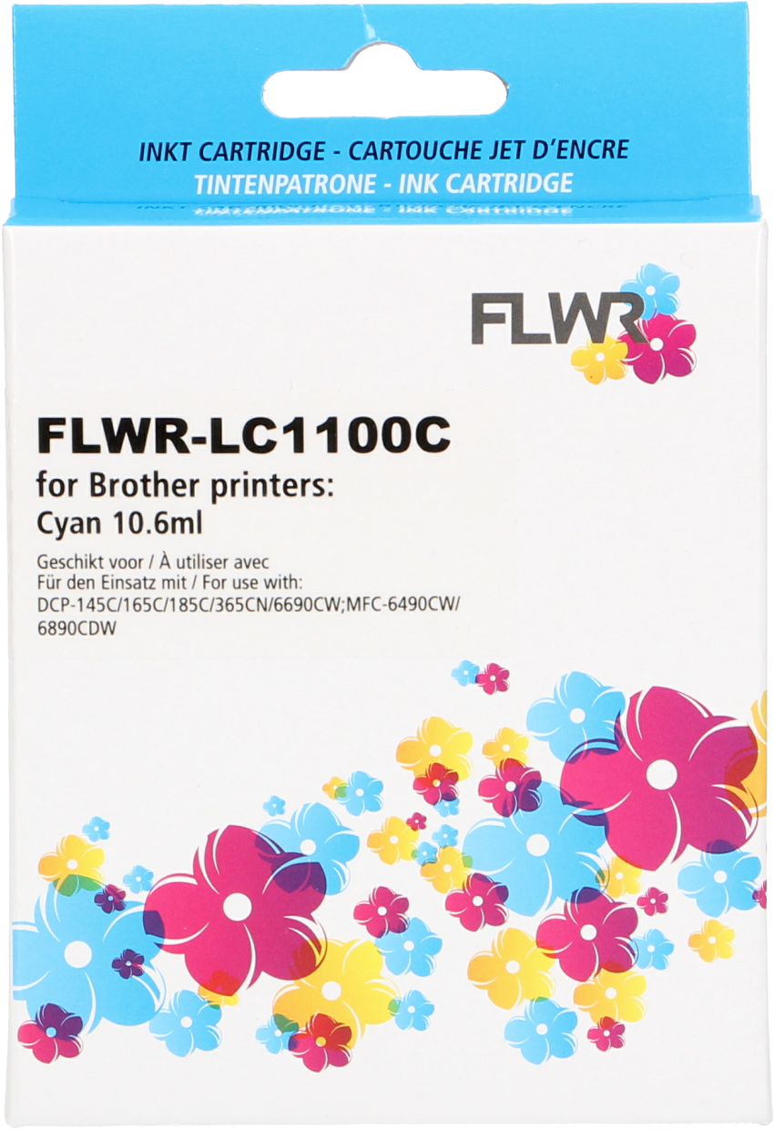 FLWR Brother LC-980C cyaan