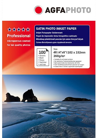 Agfa A6 Satin Photo inkjet paper 260 grams