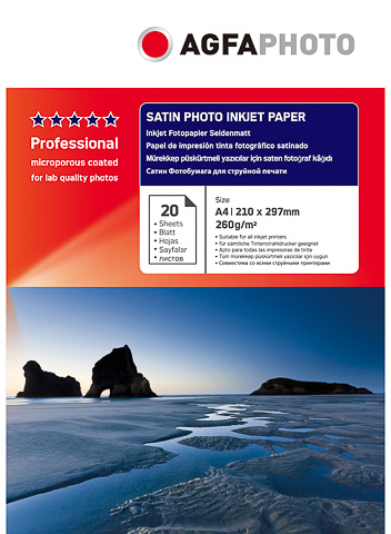 Agfa A4 Satin Photo inkjet paper 260 grams