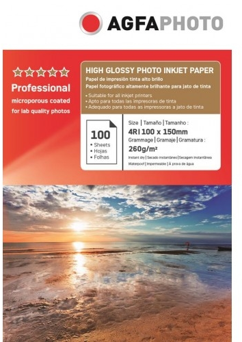 Agfa A6 High Glossy Photo Inkjet Papier 260 grams