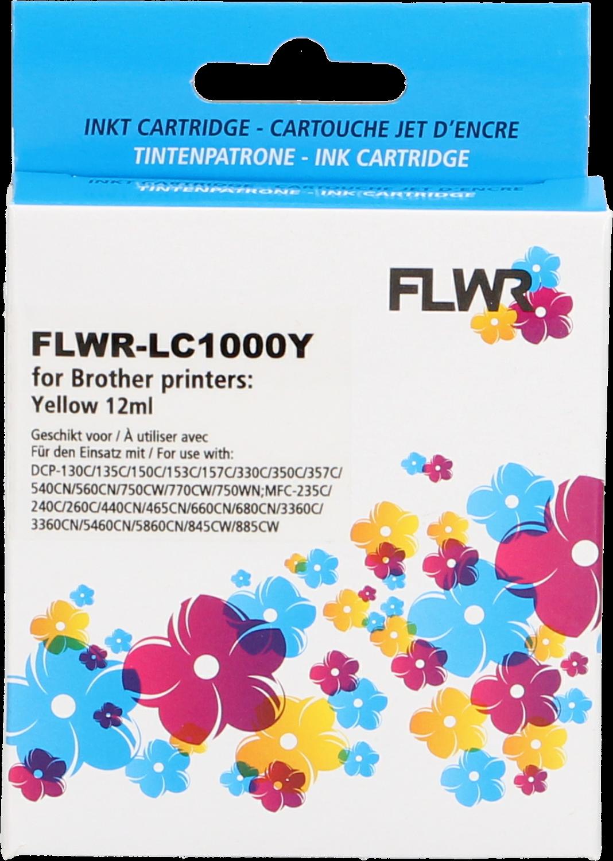 FLWR Brother LC-970Y / LC-1000Y geel