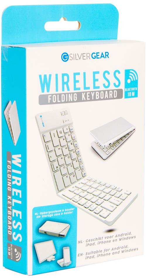 Silvergear Opvouwbaar bluetooth toetsenbord