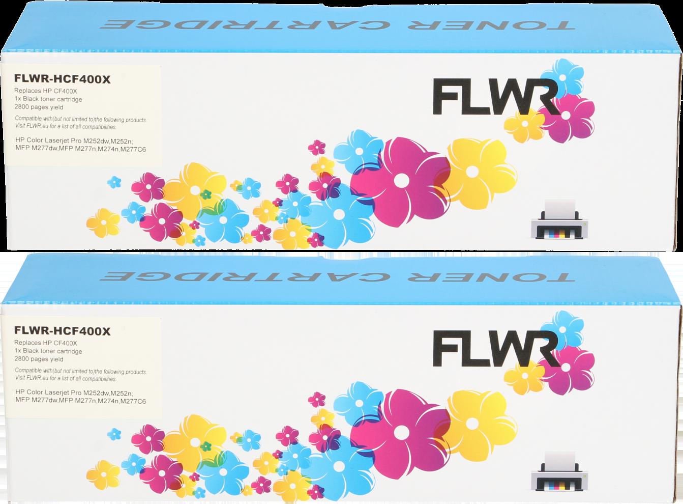 FLWR HP 201X zwart