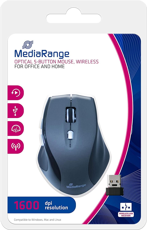 MediaRange Draadloze muis, 5 knoppen