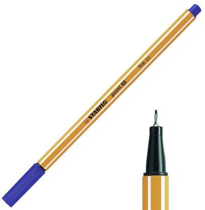 Stabilo point 88 fineliner blauw