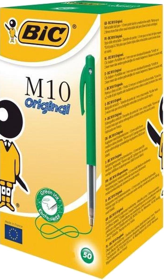 BIC Balpen Clic M10 Multipack groen