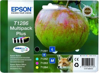 Epson T1286 Multipack plus zwart en kleur