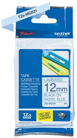 Brother  TZe-MQ531 zwart op blauw breedte 12 mm