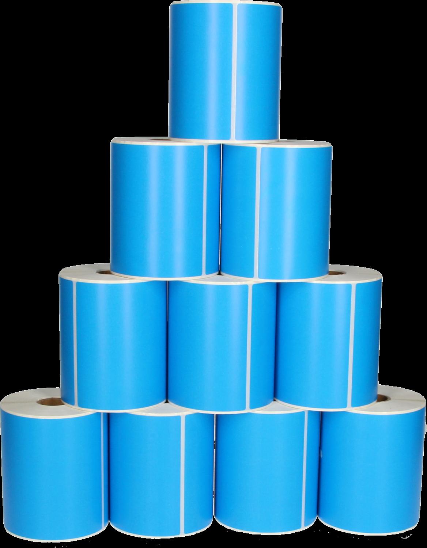 Huismerk Zebra  10-pack verzendetiketten 150 mm x 102 mm  blauw
