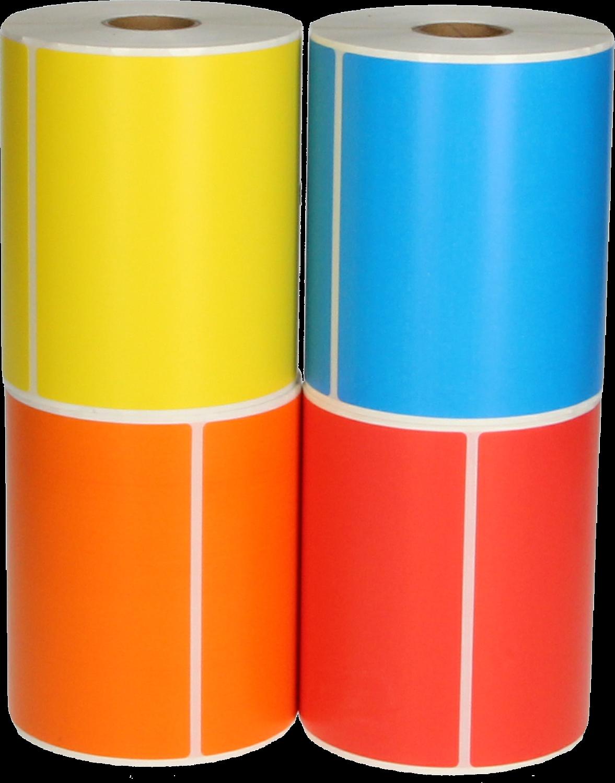 Huismerk Zebra  4 kleuren verzendetiketten 150 mm x 102 mm  kleur
