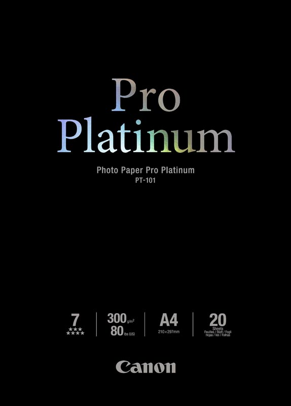 Canon PT-101 Professioneel A4 Fotopapier Platinum