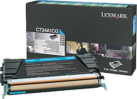 Lexmark C734A1CG toner cyaan