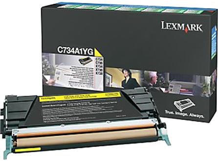 Lexmark C734A1YG toner geel