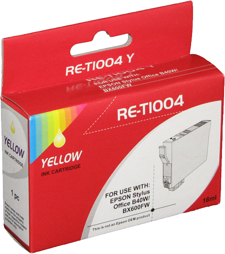 Huismerk Epson T1004 geel