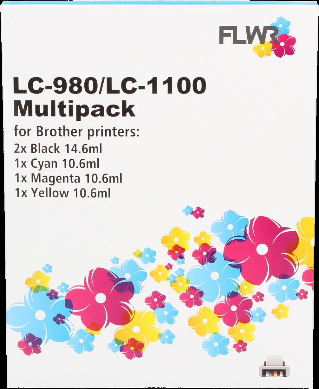 Brother LC-980 / LC-1100 Multipack zwart en kleur