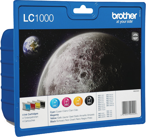 Brother LC-1000 multipack zwart en kleur