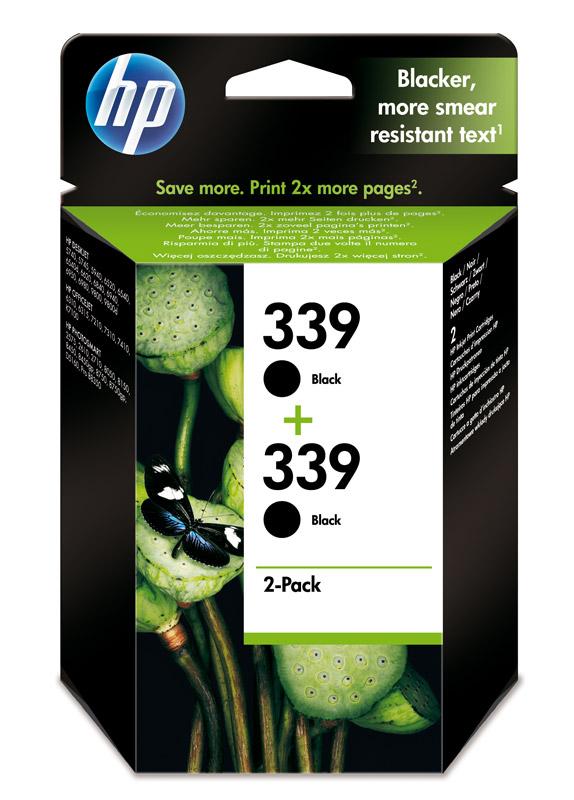HP 339 2-pack zwart
