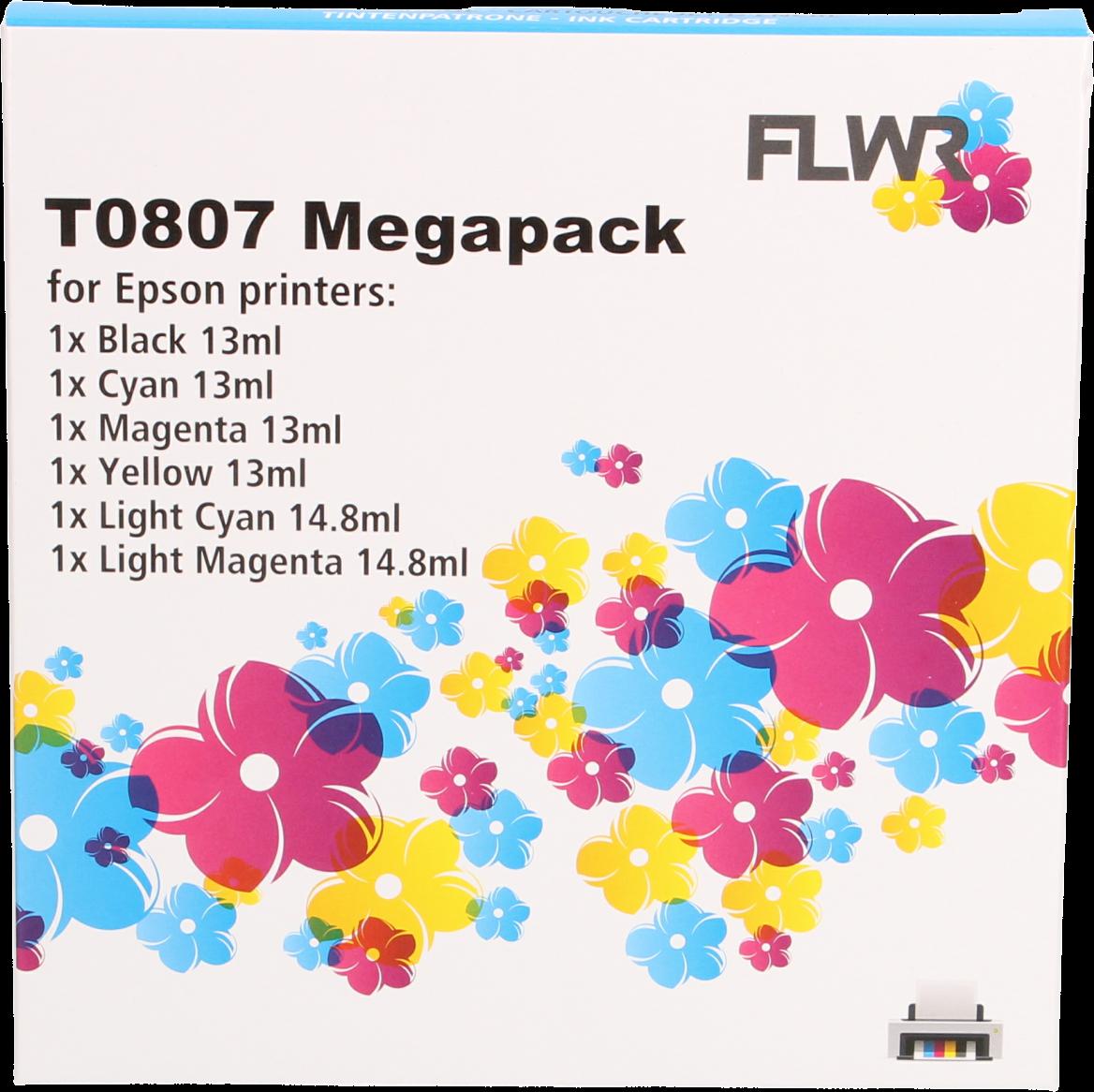 FLWR Epson T0807 Multipack zwart en kleur