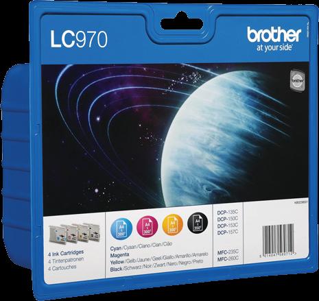 Brother LC-970 multipack zwart en kleur
