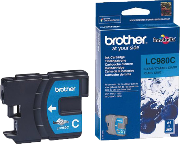 Brother LC-980C cyaan